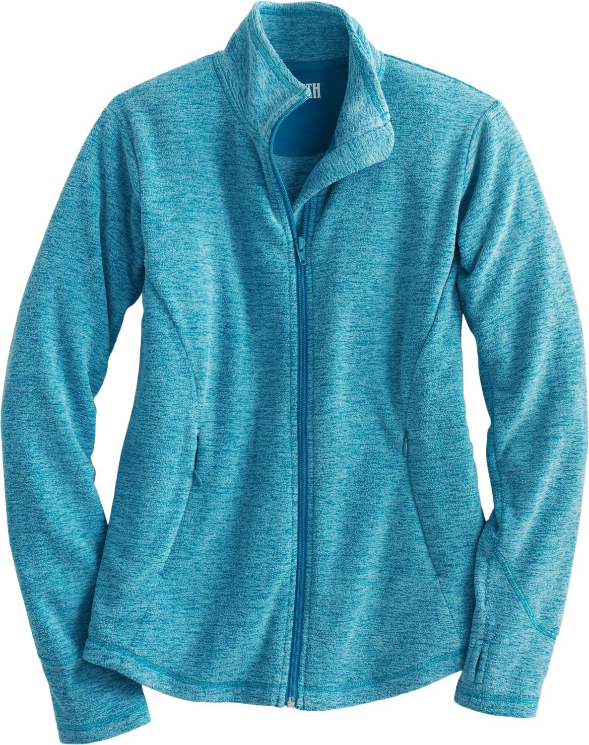 Youull sink right into the super soft plush womenus zip up fleece
