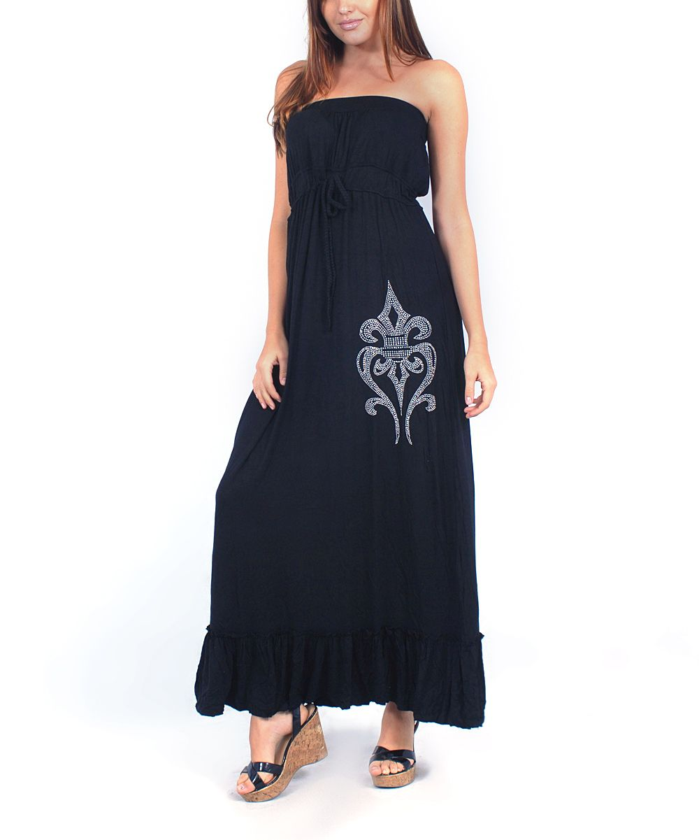 Black smocked strapless maxi dress dresses fancy gowns
