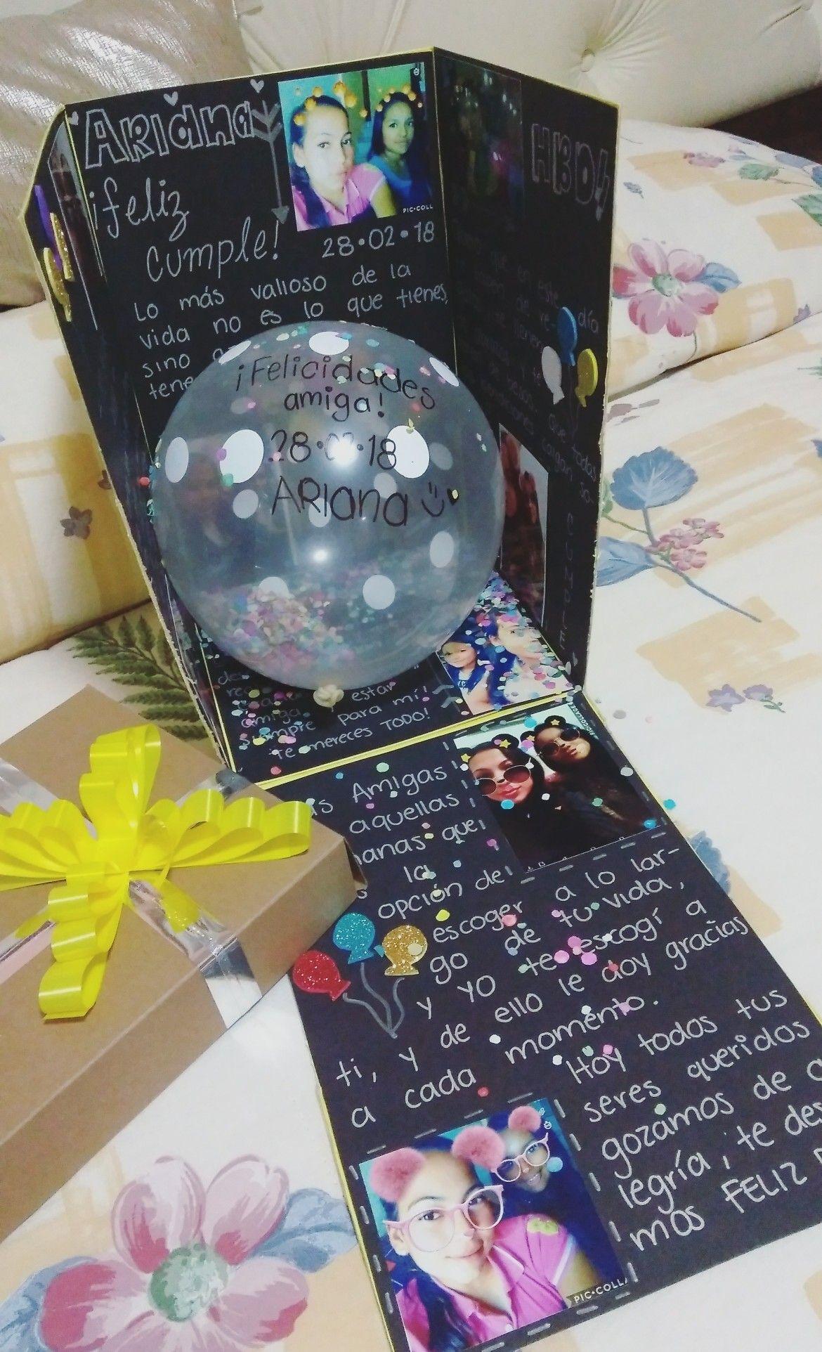 Caja Sorpresa De Cumpleaños Caja Sorpresa Cumpleaños Regalos Para Mejores Amigos Regalo Para Novia Manualidades