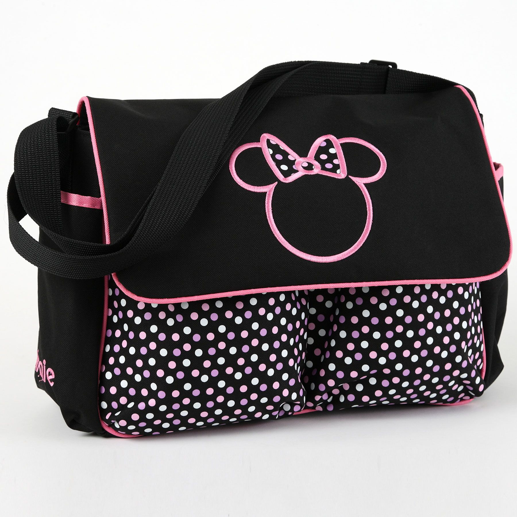 f960b3c06a MINNIE MOUSE Large Diaper Bag. I want this. I would forgo the expensive  Coach diaper bad for this. :)
