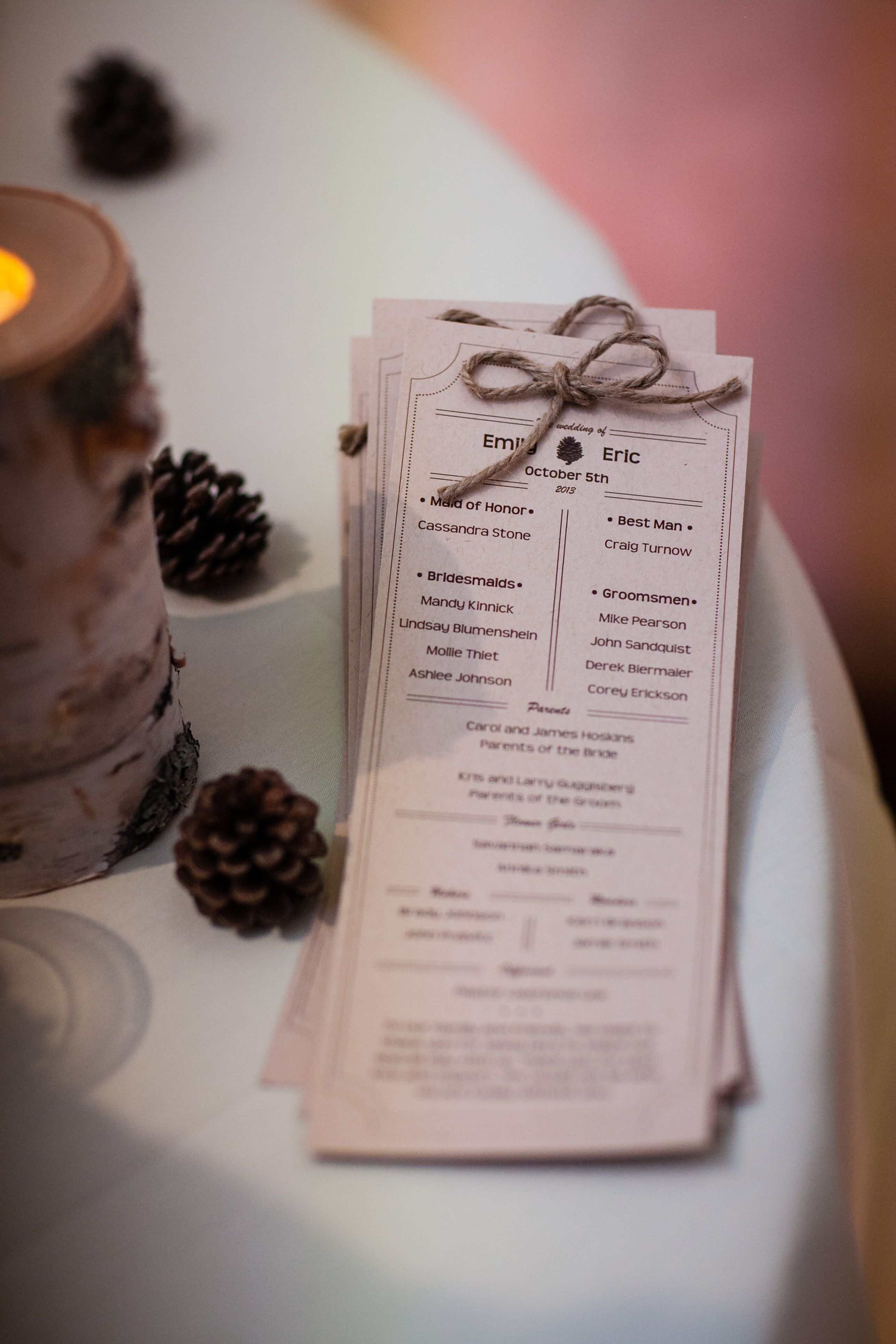 publisher wedding program template