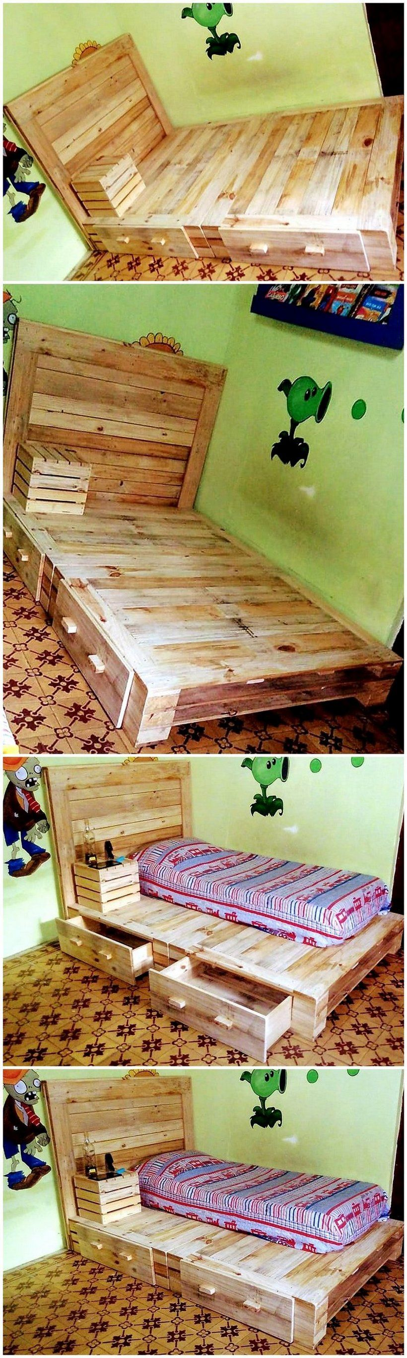 Rustic beds and bedroom furniture ideas pallet rustic furniture