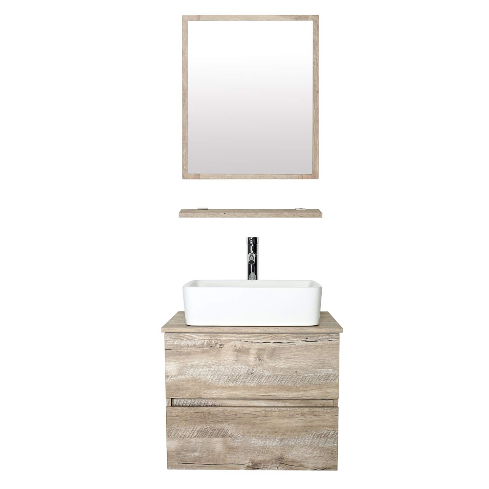 Eclife 24 Bathroom Vanity Sink Combo Wall Mounted Natural Cabinet Two Drawers Vanity Set Whit Bathroom Vanity Combo 24 Bathroom Vanity 24 Inch Bathroom Vanity [ 1000 x 1000 Pixel ]