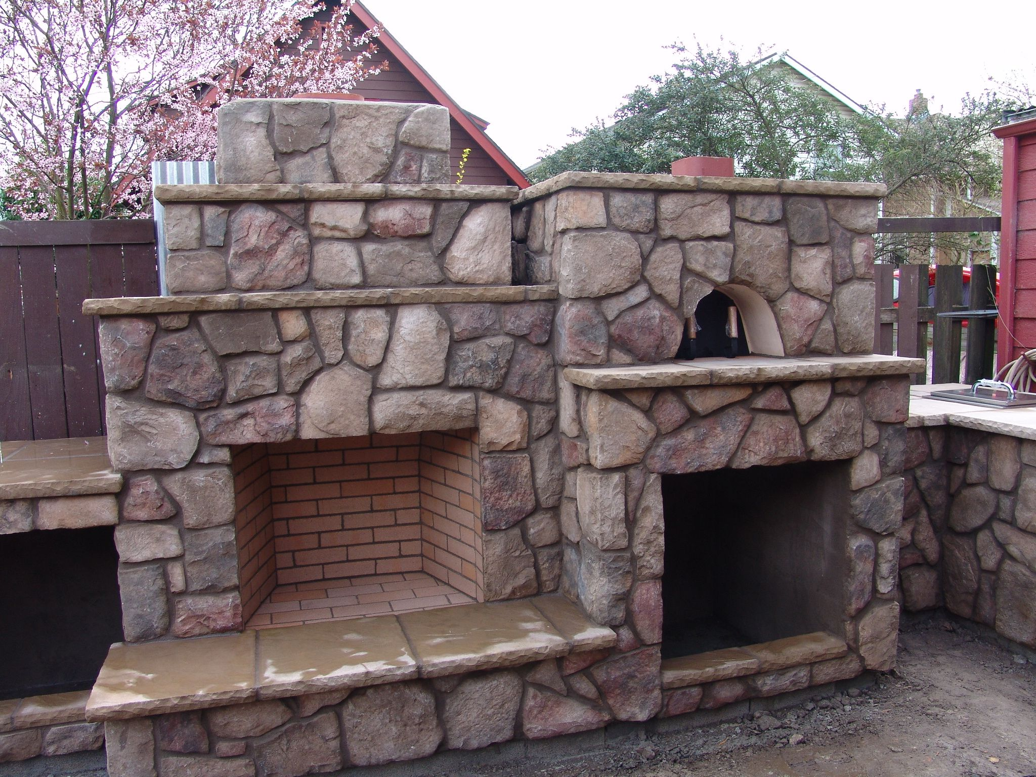 wood fired brick oven pizza oven outdoor fireplace outdoor