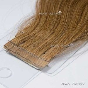 Tape Hair Extensions Wavy 8 Light Brown 20 Inch Tape Hair