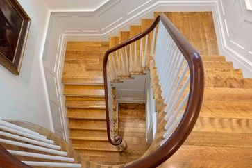 Figured Birch Stair Treads And Landings Custom Milled To Match The Flooring  In The Home