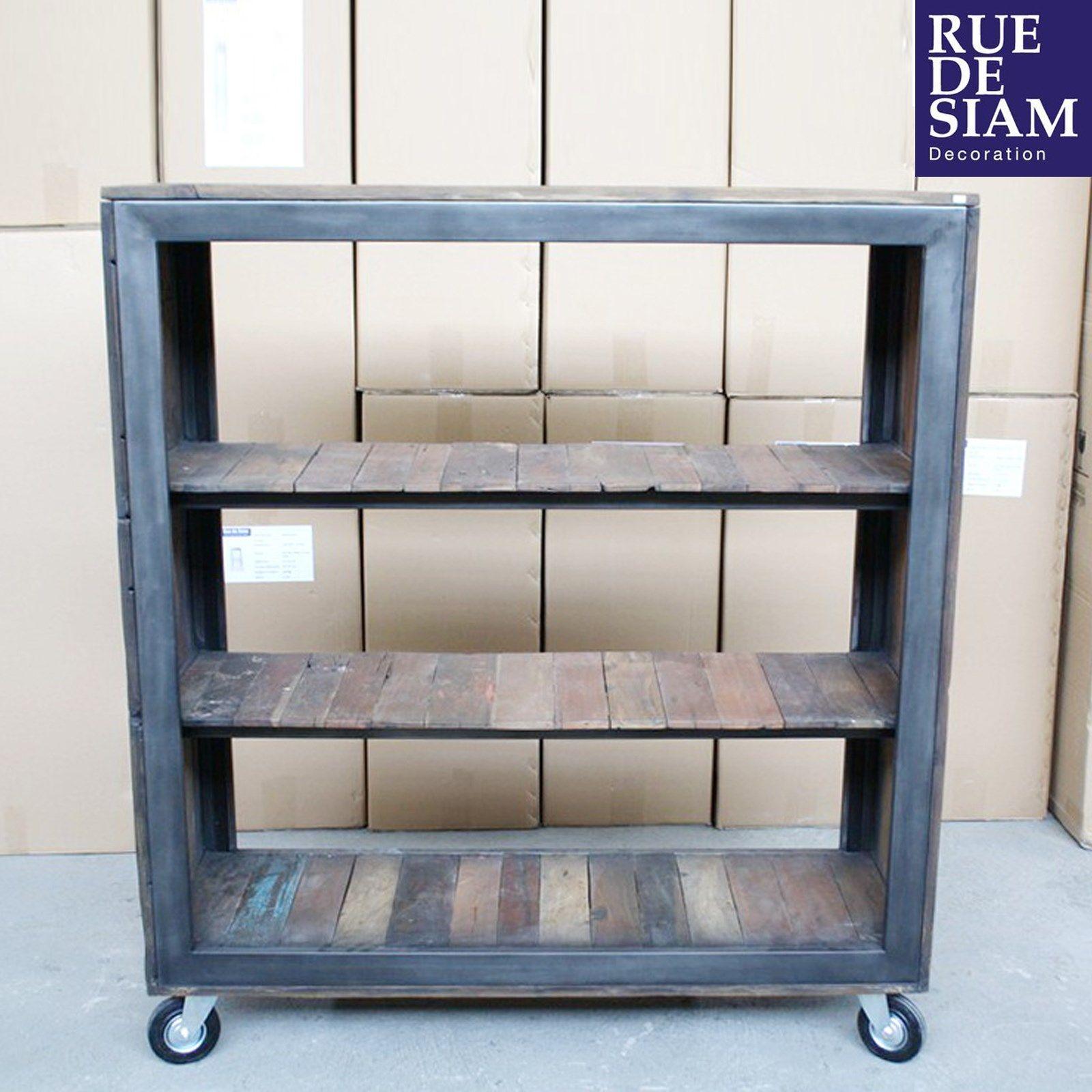 Biblioth¨que 125cm design industriel n°01 Des idees pour vos