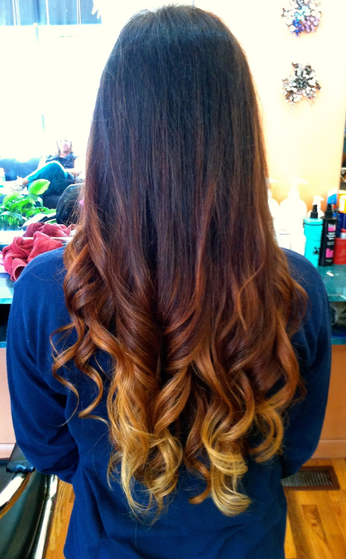 Cute brown to blonde ombre Hair Pinterest