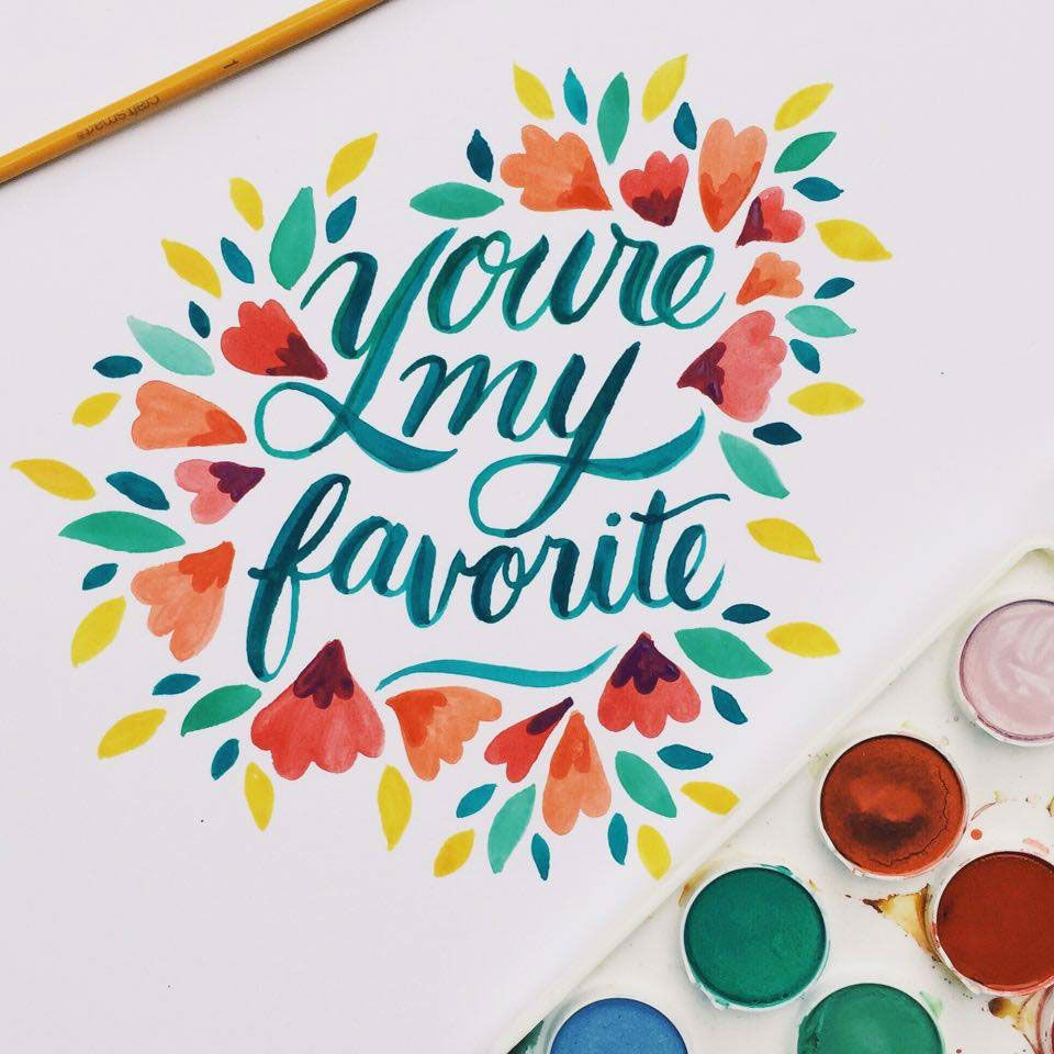 Watercolor Typography Collection On Behance Lettering