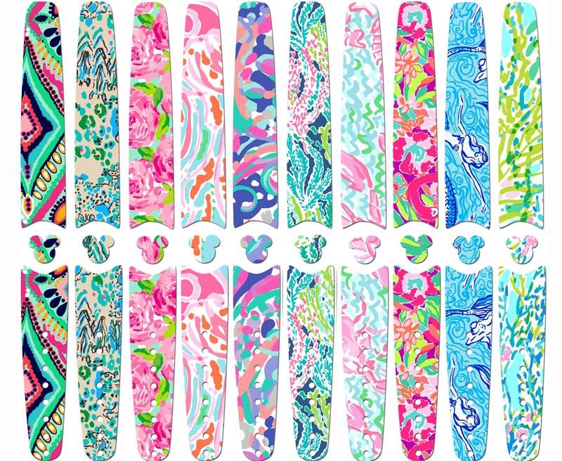 Disney magic band 1 0 or 2 0 skins and decals lilly pulitzer inspired designs waterproof custom band stickers glitter rts ready to ship