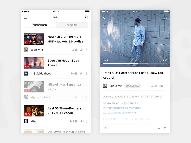 Video Player iOS App | Dribbble | Ios app design, Ui design, Ios ui