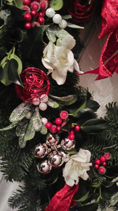 Close up of heart shaped door wreath Christmas wreaths Pinterest