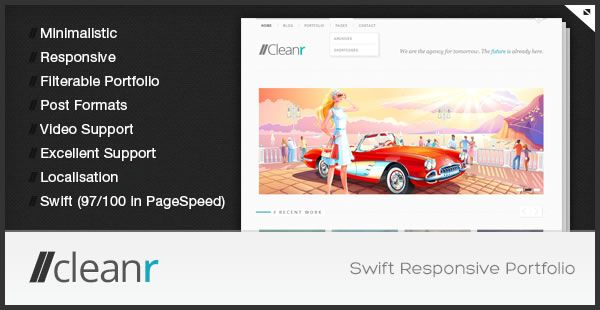 Cleanr is my first portfolio theme, after hanging a while with ...