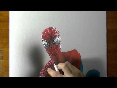 Drawing   Spider Man portrait
