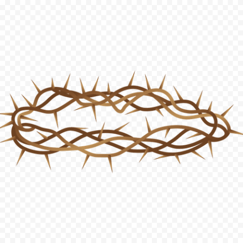 Branch Brown Crown Of Thorn Illustration Clipart Crown Of Thorns Clip Art Illustration