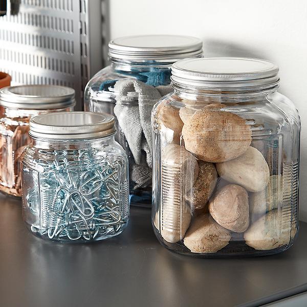 Anchor Hocking Glass Cracker Jars