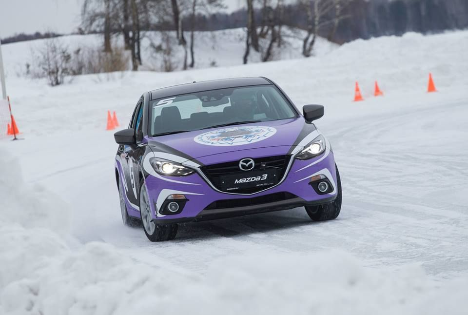 2014 Mazda Ice Race, Mazda3 with beautiful colors. http://flanaganmotors.com