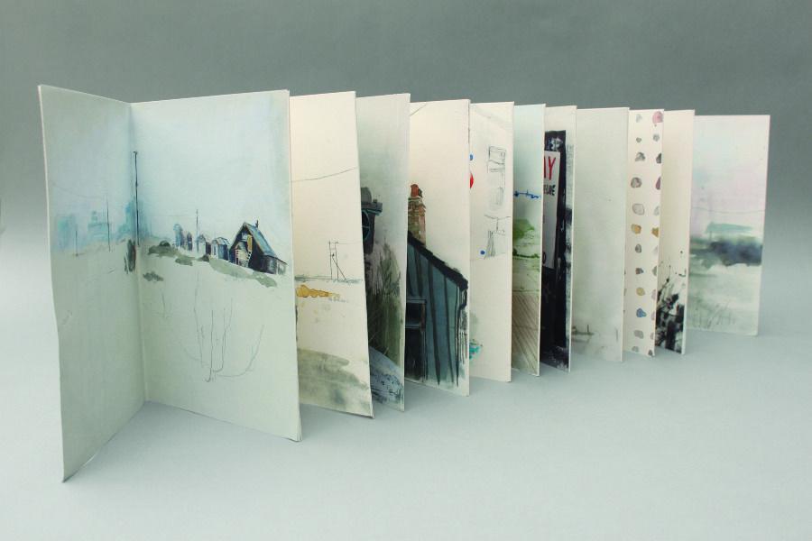 Dungeness Drawings - Sarah Maycock // romantische (wandelaar) // documentair, reportage // beeldverhaal, impressiebeelden