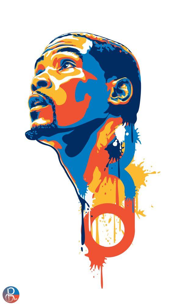 KD Art...my fav person in the nba under jordan,i love u k.d!...team thunder!