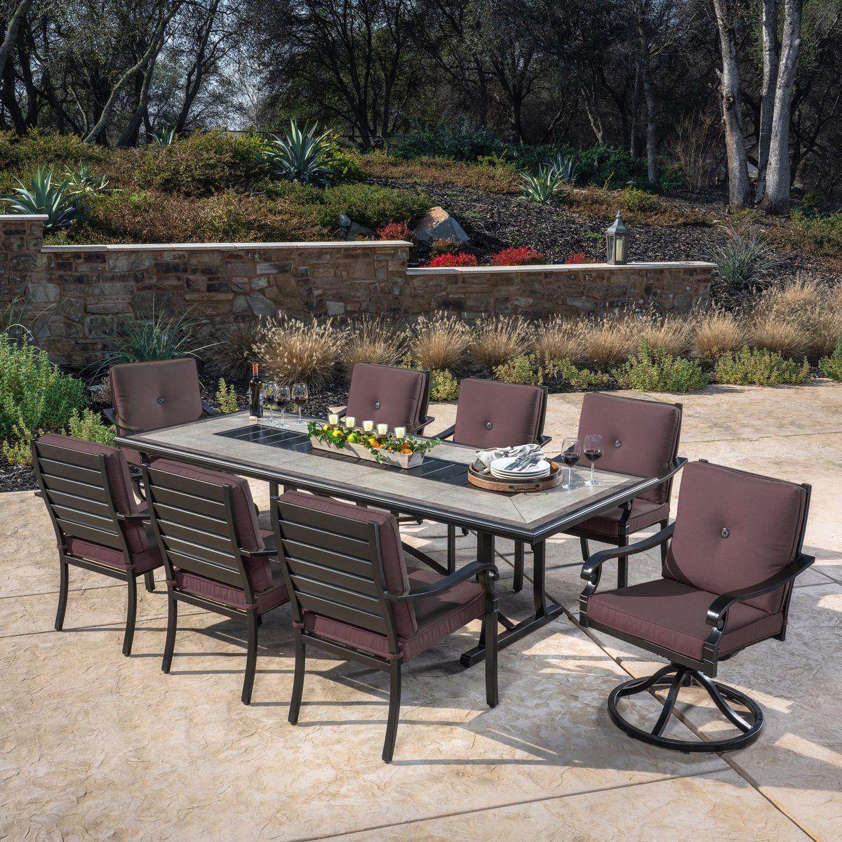 verena 9 piece dining set patio
