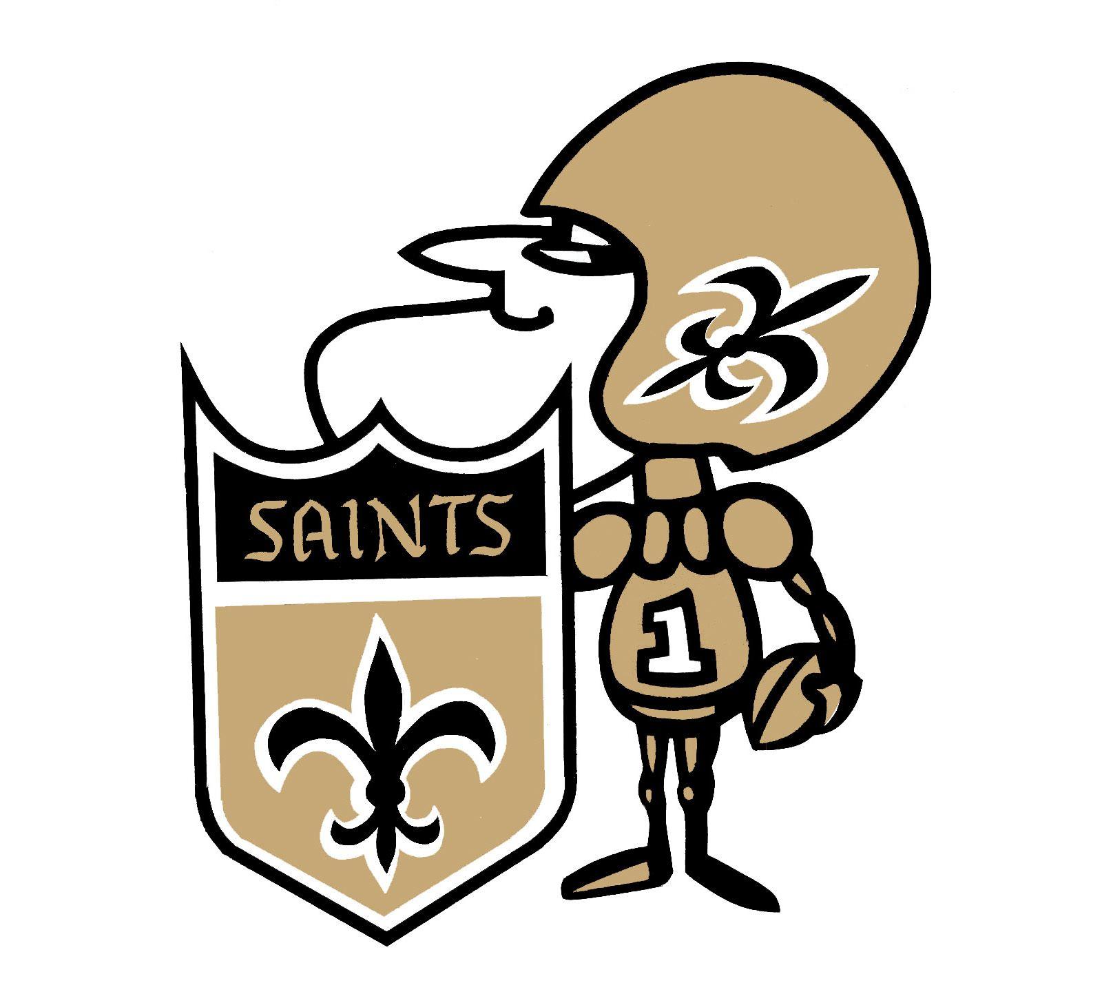 Sir Saint Emblem New Orleans Saints Logo New Orleans Saints Football Nfl Saints
