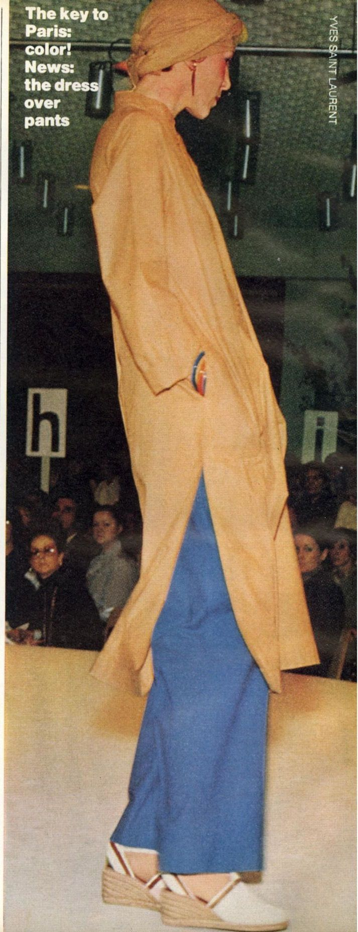 saint laurent rive gauche show in vogue us vintage