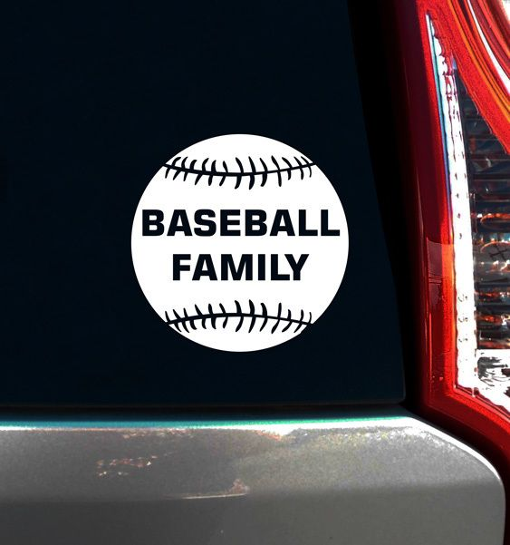 Baseball family window decal baseball decals are the best way to brighten up your car