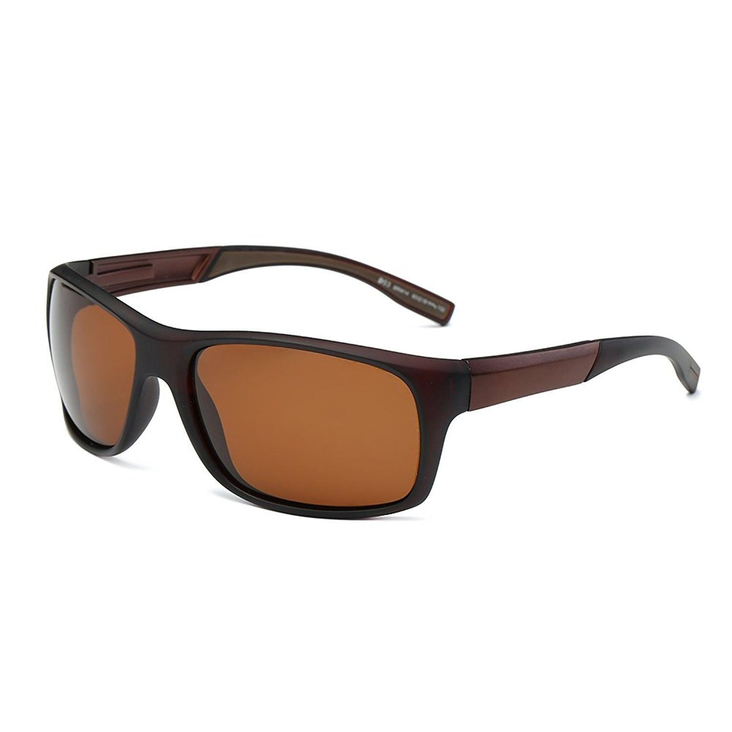 767c08642a5 Cool Polarized Sports Sunglasses Oversized Wrap Around Frame for Fishing  Golf Hiking D53 - Brown - CP17YYD82QC - Women s Sunglasses