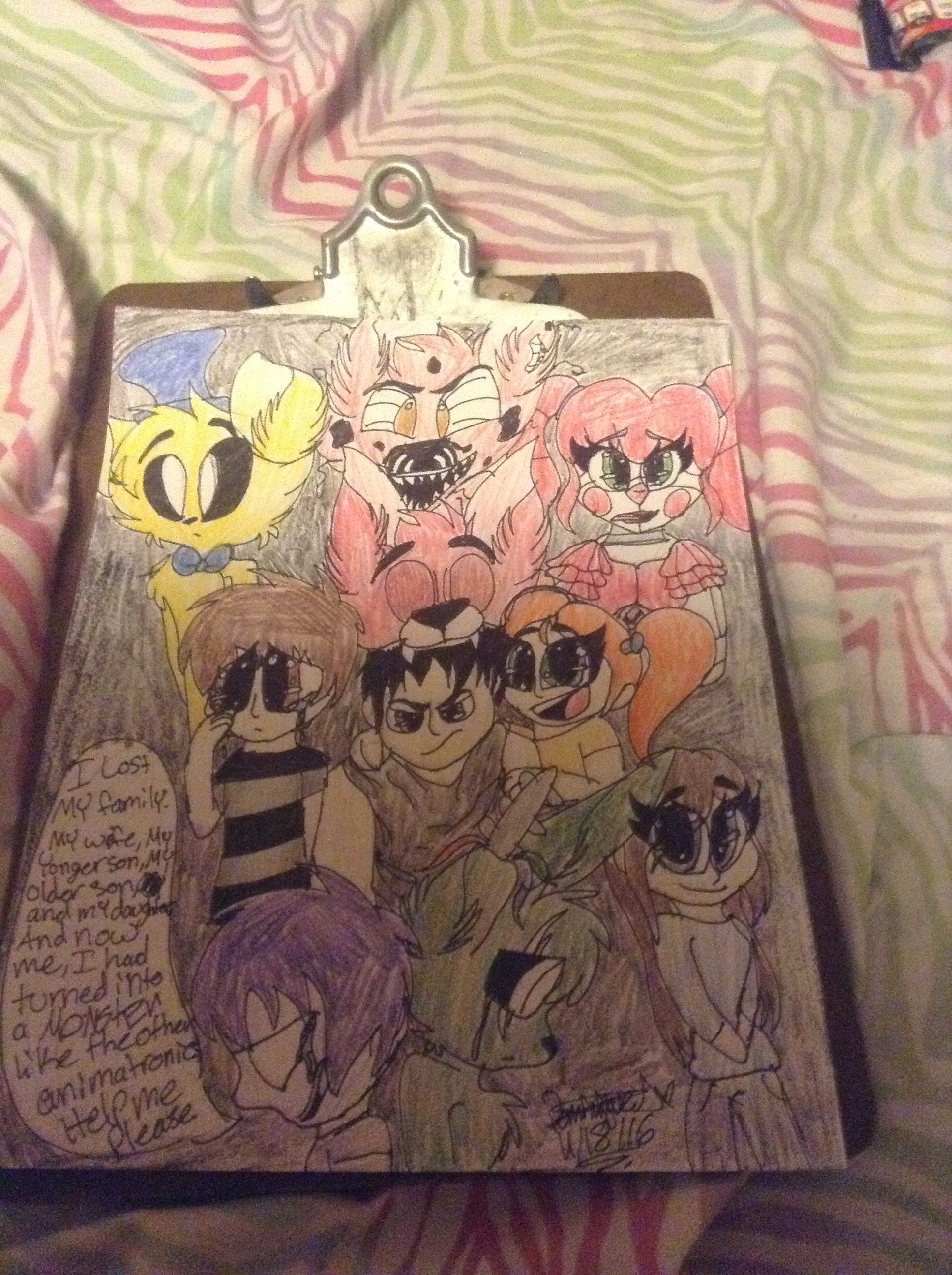 The Afton family | My drawings (old) | Five Nights at ...