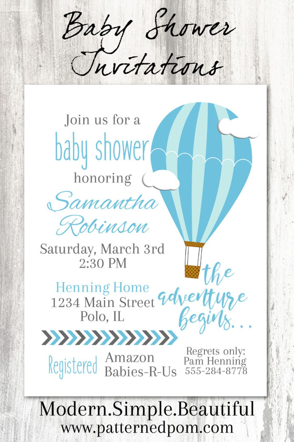 So Cute For A Baby Boy S Hot Air Balloon Baby Shower I Love How