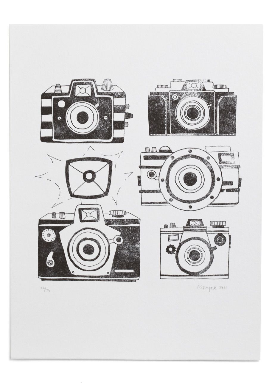 Reel Deal Print. Gain exposure for your exquisite eye with this letterpress print by onecanoetwo displayed outside your darkroom! #white #modcloth