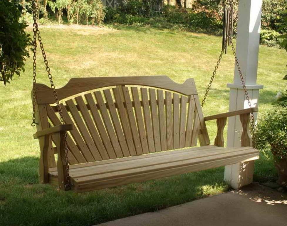Beautiful Wooden Bench Swing Plans