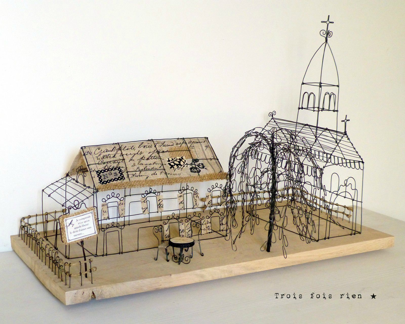 There is no place like home, wire art, fil de fer, wire,