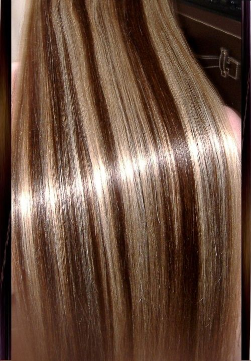 Platinum Blonde Hair With Lowlights Dark Brown Highlights Beautiful Color
