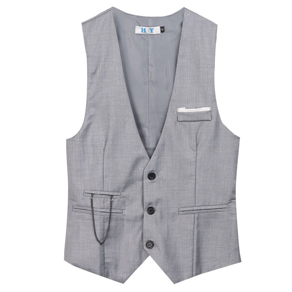 Hot fashion men jacket suit slim fit vest casual business formal