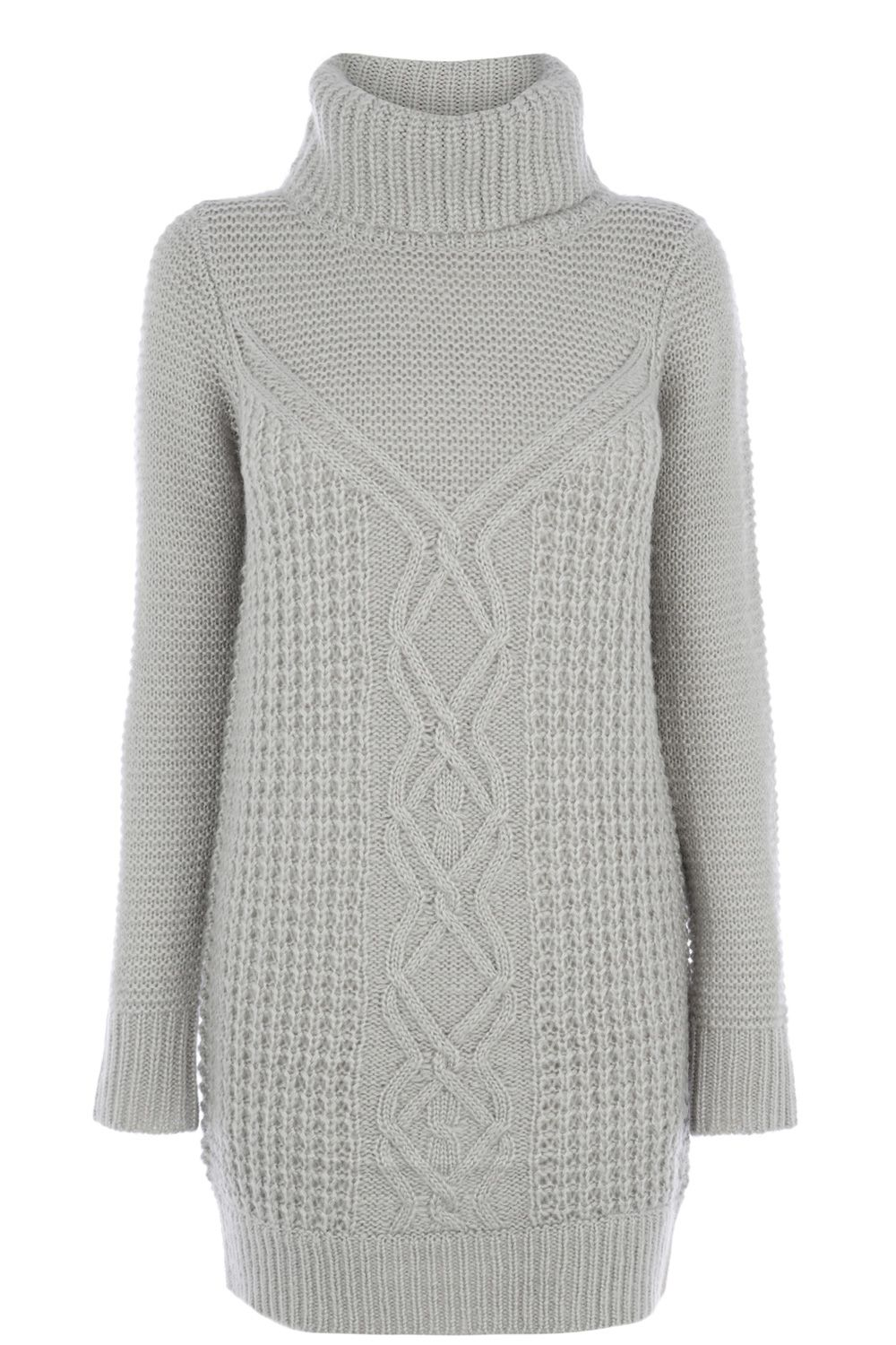 Fluffy Cable Knit Jumper Dress | Grey | Oasis Stores | BuSOS DAMA ...