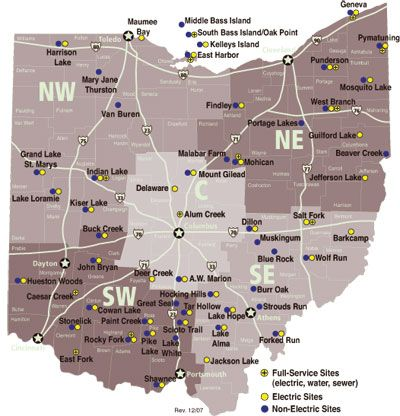 Map Of Ohio State Parks List of Ohio state parks with campgrounds | Ohio state parks