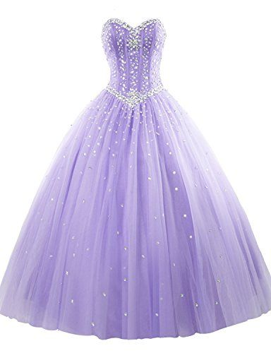 e94f2746a21 Erosebridal Long Prom Dress Tulle Sweetheart Beaded Quinc... https   www