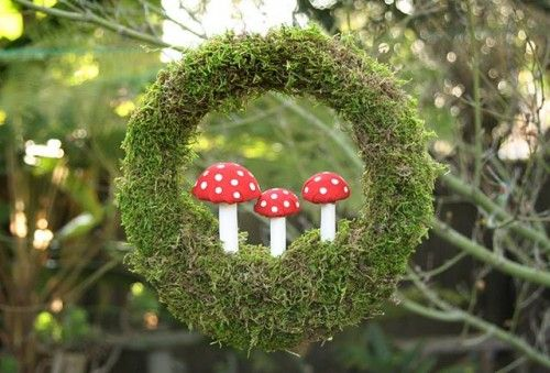 moss toadstool wreath http alwaystheholidays com best christmas wreath ideas