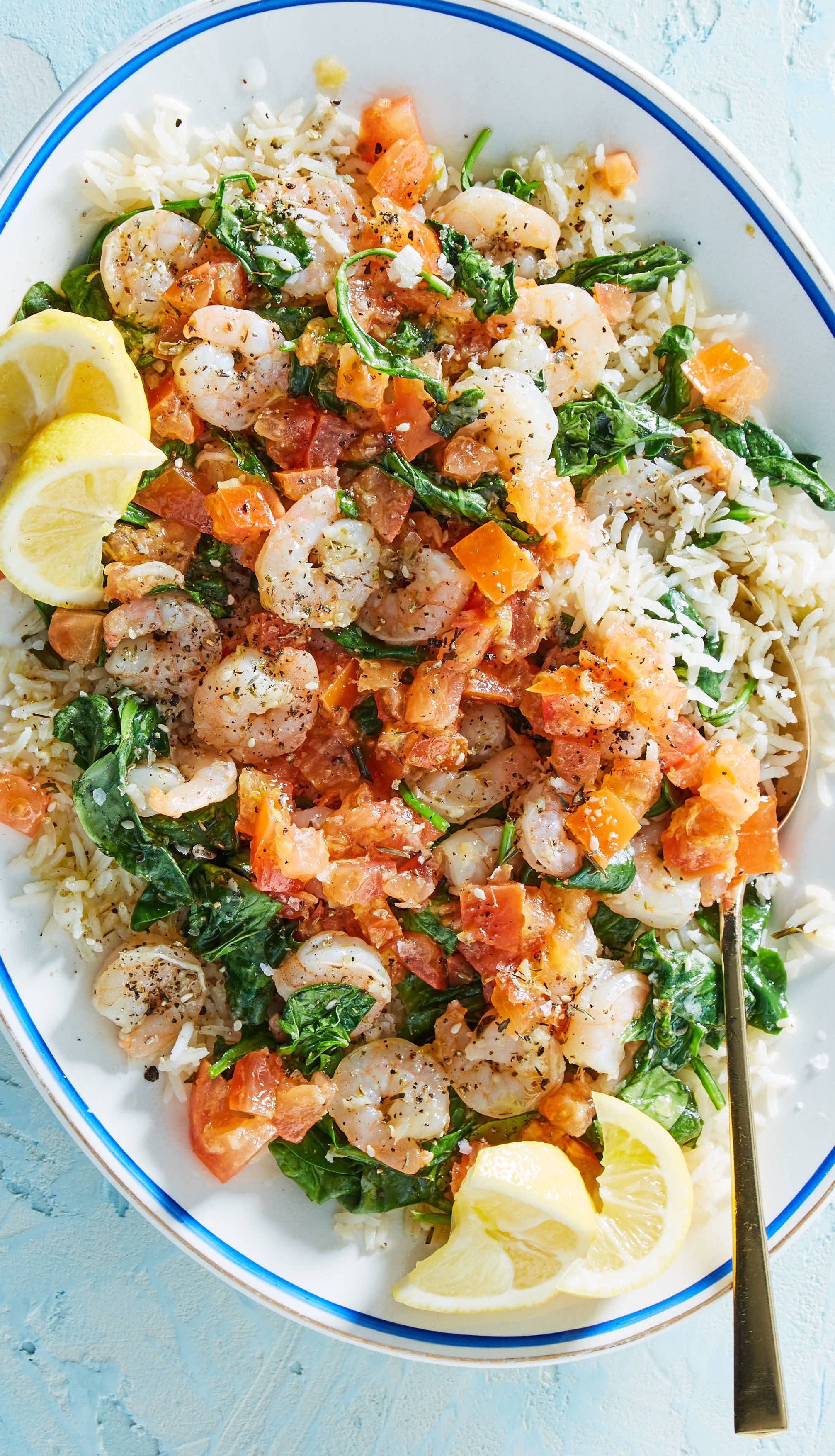 Brighten up your winter with this Mediterranean shrimp scampi from Martha Stewart's meal kit delivery service, Martha & Marley Spoon! The shrimp are coated in Za'atar spice blend, then quickly broiled to perfection and placed atop a layer of fluffy basmati rice pilaf. A zingy tomato salsa with lemon zest, juice, and garlic finishes this dish. Sign up today to get trusted recipes and fresh ingredients delivered to your door!
