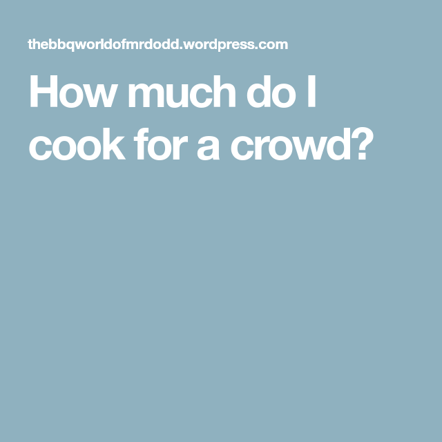 Developing Good Troubleshooting Technique From Network: How Much Do I Cook For A Crowd?