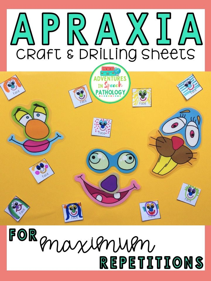 Mini apraxia picture cards for crafts drilling