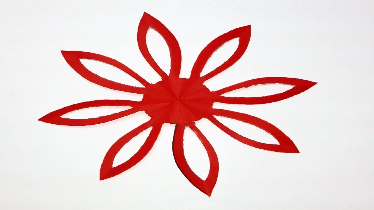 How To Make Easysimple Paper Cutting Flowerpaper Cutting Designs