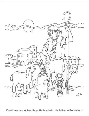 David the Shepard coloring page | Sunday school coloring ...