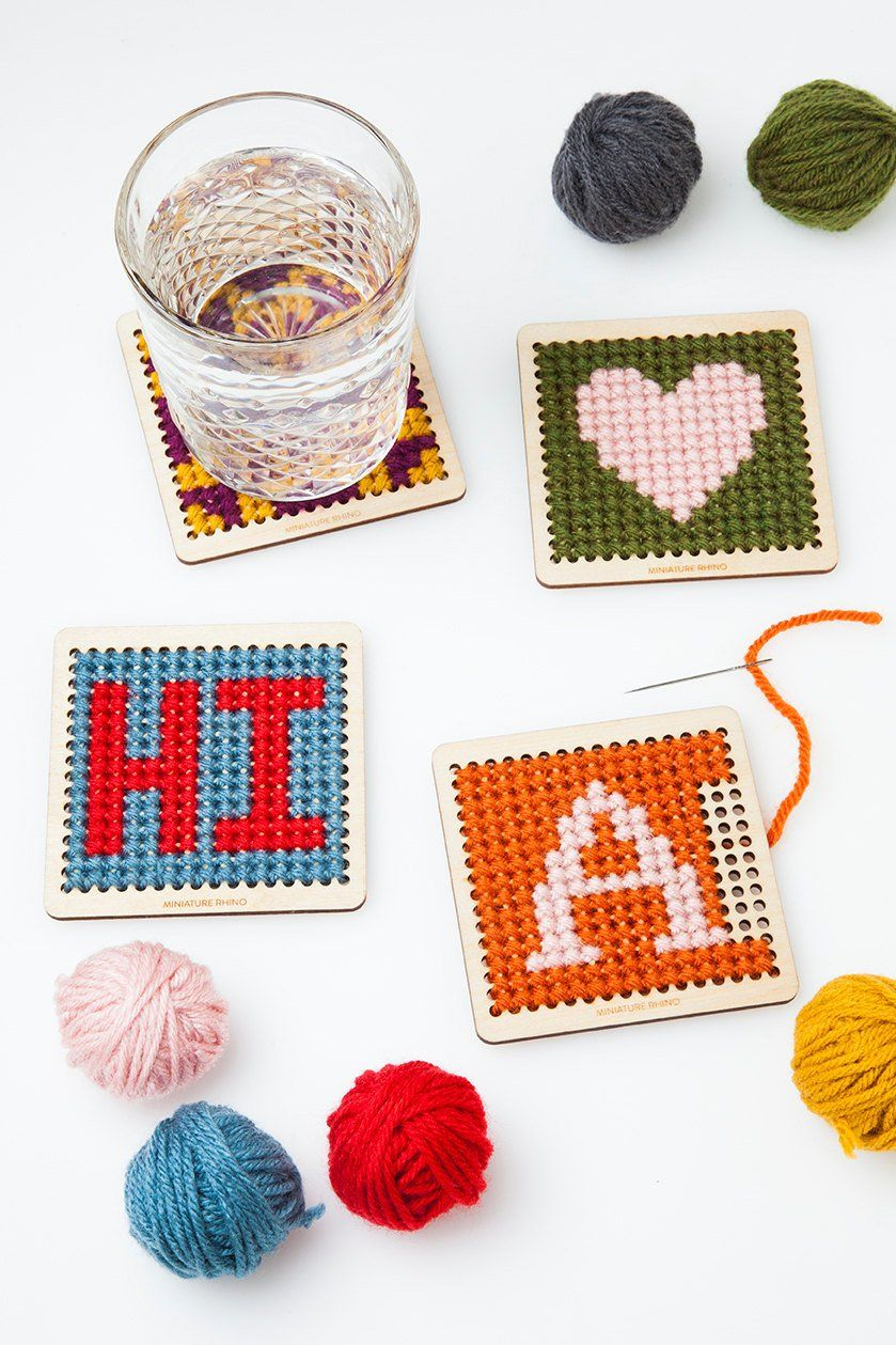 An Easy And Useful Diy Cross Stitch Coasters Diy Projects