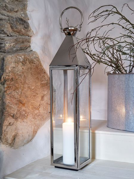 Big Stainless Steel Lanterns Large Candle Lanterns Candle Lanterns Floor Candle