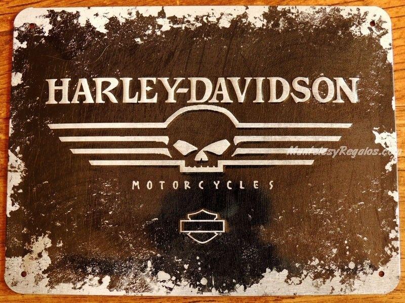 Placa metálica HARLEY-DAVIDSON MOTORCYCLES - 15 x 20 cm. de ...