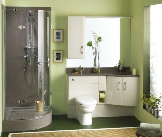 salle-bain-moderne-vert-grisjpg (550×465) Idées Déco Pinterest