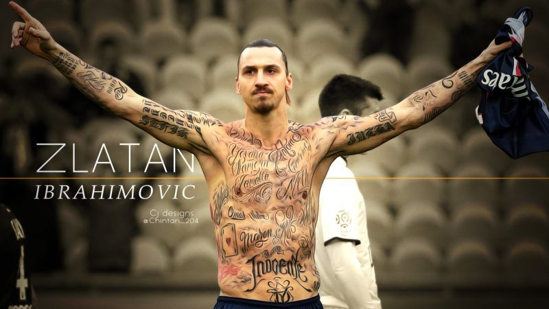 خلفيات زلاتان إبراهيموفيتش بقميص باريس سان جيرمان Zlatan Ibrahimovic Ibrahimovic Tattoo Football Is Life
