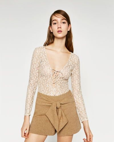 Image 3 of LACE BODYSUIT from Zara